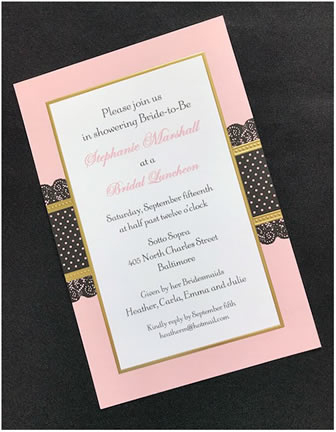 Invitations calligraphy by andrea bridal shower envelope addressing is available to match your invitations in color and font bridal shower filmwisefo